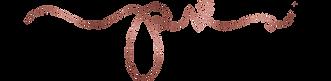 pollyvaleraphotography logo - Rose gold.