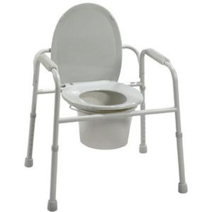 Drive Deluxe All-In-One Welded Steel Commode