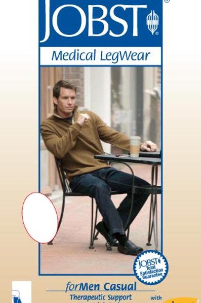 Jobst For Men 30-40 Mmhg Extra Firm Casual Knee High Support Socks