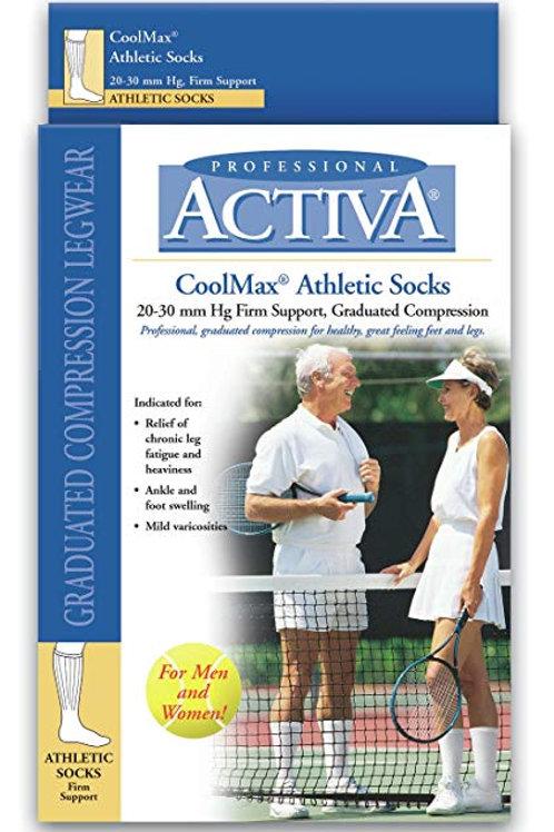 Activa Coolmax Athletic Crew Support Socks 20-30 mmHg