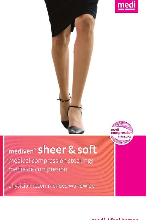 Mediven Sheer & Soft Women's 30-40 Mmhg Closed Toe Knee Highs