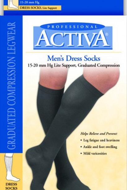 Activa Therapeutic Men's Ribbed Dress Socks 15-20 mmHg