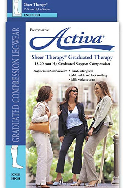 Activa Sheer Therapy Closed Toe Knee Highs 15-20 mmHg