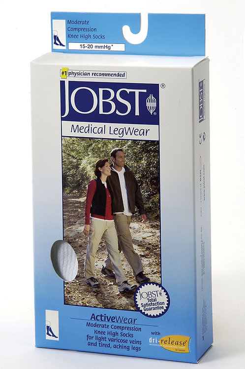 Jobst ActiveWear 15-20 Mmhg Athletic Knee High Support Socks