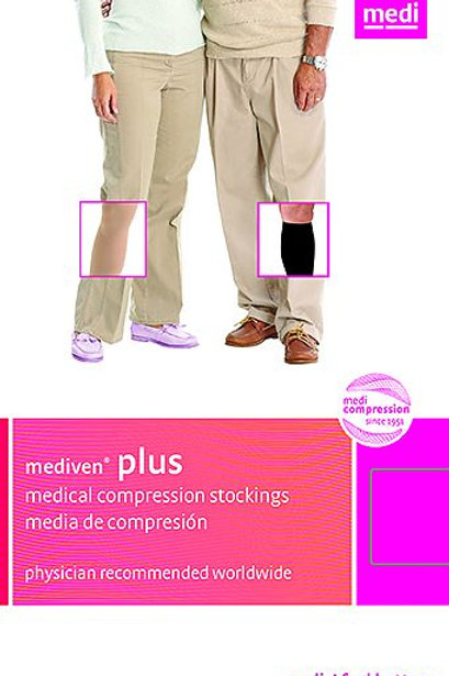 Mediven Plus 20-30 mmHg Open Toe Thigh High Unisex Stockings w/ Silicone Band
