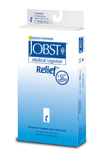 Jobst Relief 15-20 mmHg Open Toe Thigh Highs w/ Silicone Top Band
