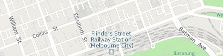 Map of Melbourne City nr Fed. Square