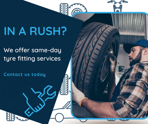 Same Day Tyre Fitting At Sunset Tyres Derby
