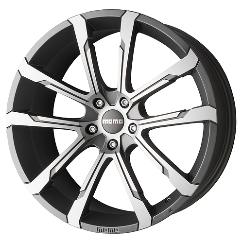 WQEA9594027DL MOMO Quantum Evo Matt Anthracite Polished 19 Inch 9.5J 40 Offset 5