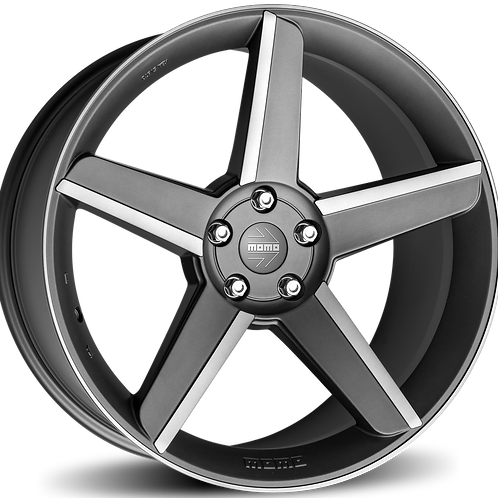 WSHA85930065 MOMO Stealth Matt Anthracite Polished 19 Inch 8.5J 30 Offset 5x110