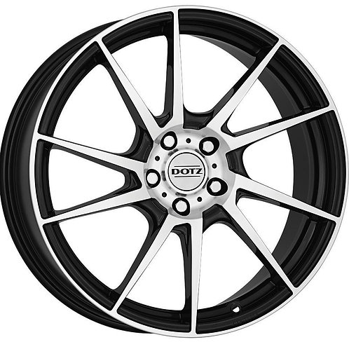 OKEYHBP48 Dotz Kendo Black / Polished 17 Inch 7J 48 Offset 5x108 70.1mm