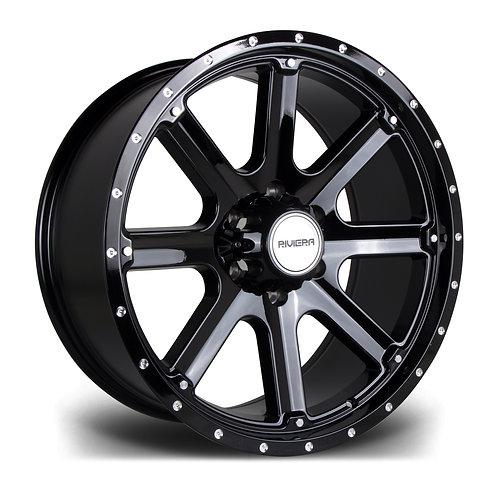 Riviera Xtreme Rx300 20x9 6x139 20 110 Black Polished