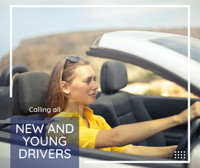 New and young drivers at home? Off to uni?