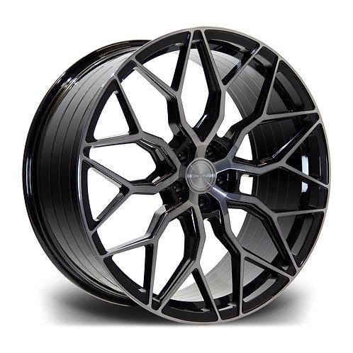 Riviera Rf108 19x8.5 5x112 Et 45 73.1 Black Polished Dtint