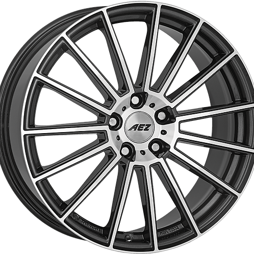 ASM9K8FP30E AEZ Steam Gunmetal / Polished 19 Inch 8J 30 Offset 5x112 66.6mm