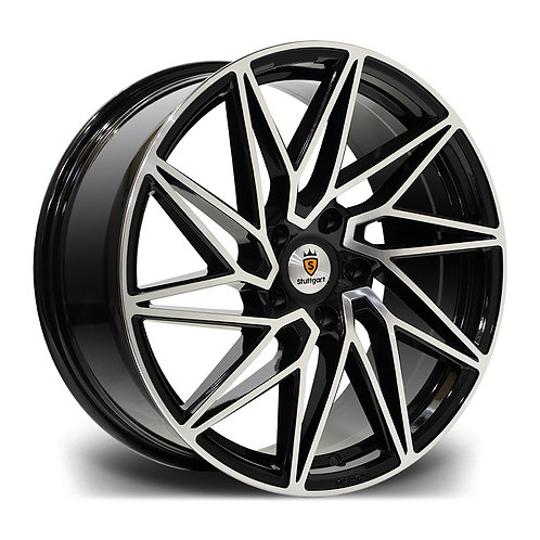 Stuttgart St20 19x8.5 5x120 Et45 73.1 Black Polished
