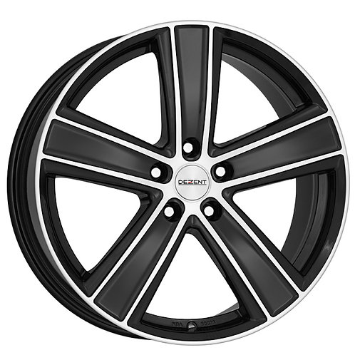 TTHPHBP37 Dezent TH Dark Black / Polished 16 Inch 7J 37 Offset 5x108 70.1mm