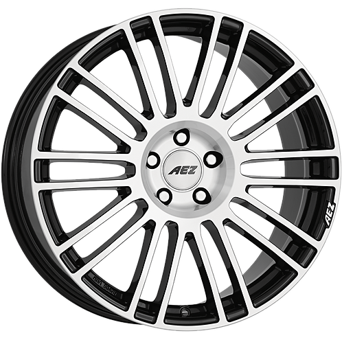 ASR9LCBP40 AEZ Strike Black / Polished 19 Inch 8.5J 40 Offset 5x127 71.6mm