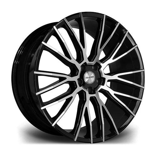 Riviera Rv127 23x10.5 5x120 35 72.6 Black Polished