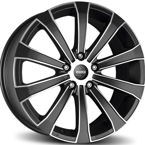 WEUB80740515 MOMO Europe Carbon Black Polished 17 Inch 8J 40 Offset 5x115 70.2mm