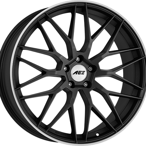 ACR78NL48 AEZ Crest Dark Gunmetal Matt / Polished Lip 17 Inch 7.5J 48 Offset 5x1