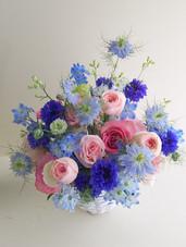 BlueとPinkのアレンジメント(生花)