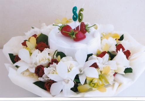 86歳の御祝いのバースデーケーキ