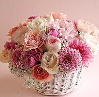 2021母の日生花ピンク&アイボリー