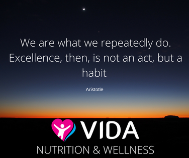 What are the actions that will lead you to improved health and wellbeing? Having breakfast? Eating lunch outside? Going to sleep at the same time each night? Eating a vegetable with each meal? Do them. Over and over again. Then you will have your new habits.