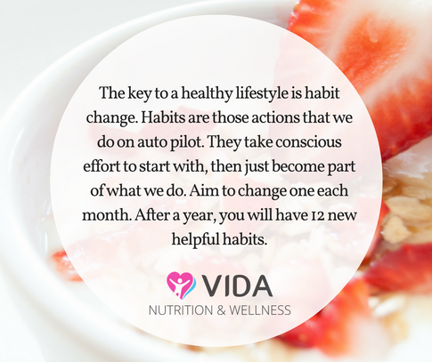 Time after time, it has been shown that habit change is the key to healthy eating over the long term. I know that this has worked really well for me and my family....however, I didn't wake up one day and drastically change our lifestyle. It has gradually transformed over the past 10 years. Try changing one habit per month.