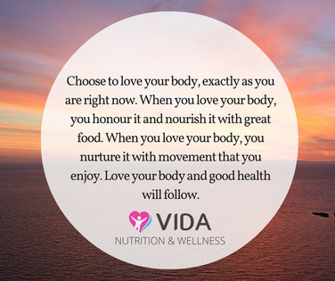 Create daily habits that come from love instead of hate. Choose to love your body NOW. Think about all that it can do, and does for you each day. It's pretty amazing, right?
