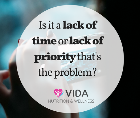 Those things that are most important to you will always get done. So, is it really a lack of time, or lack of priority that stops you from looking after yourself?