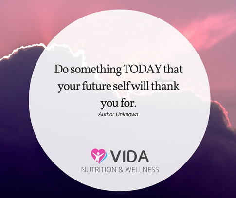 What is one thing you can do right now that your future self will thank you for? It could be completing something you have been procrastinating about, folding a pile of washing or choosing a nourishing meal (and a thousand other ideas). Ask yourself this question at least once a day to see your habits improve.