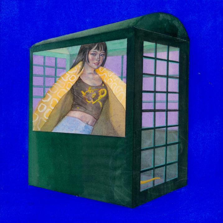 Ultramarine Blue Phone Box