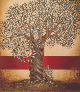 Olive Tree (red line) ~ SOLD
