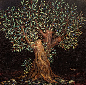 Olive Tree (black) ~ SOLD