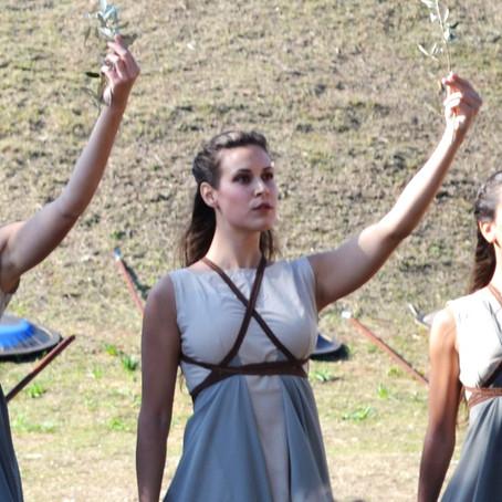 Η τελετή Αφής της Φλόγας, στον αρχαιολογικό χώρο του Τύμβου Μαραθώνα