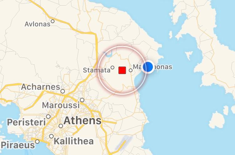 Σεισμός στον Μαραθώνα