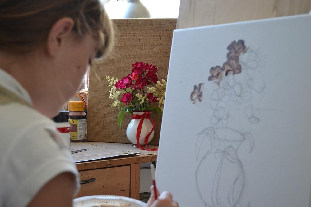 Εργαστήρι με τη ζωγράφο Βαρβάρα Γεροδήμου, στον Μαραθώνα