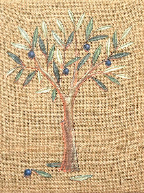 Olive Tree on burlap