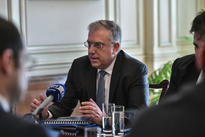 Ο εποπτεύον της ΑΜΚΕ «Μάτι Ξαναζώ» υπουργός Εσωτερικών Τάκης Θεοδωρικάκος. (EUROKINISSI/ΤΑΤΙΑΝΑ ΜΠΟΛΑΡΗ)