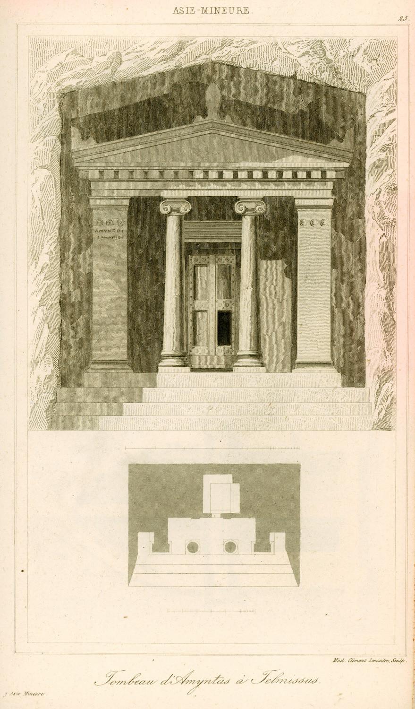 Ο τάφος του Αμύντα στη Μάκρη σχεδιασμένος από τον Charles Félix Marie Texier | Πηγή: Travelogues.gr