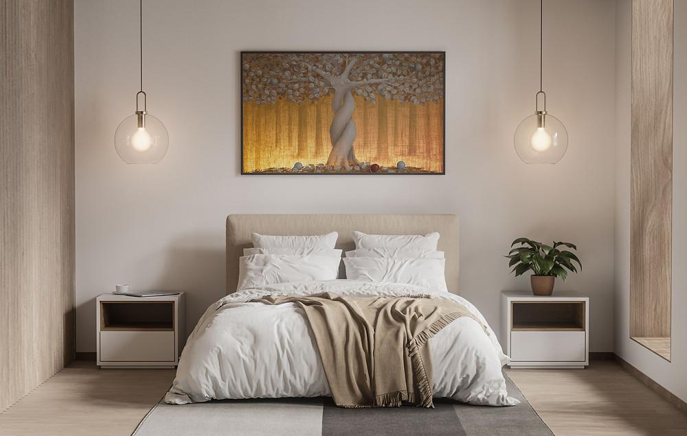 Έργο της καλλιτέχνιδος Βαρβάρα Γεροδήμου με κρυφό φωτισμό Led