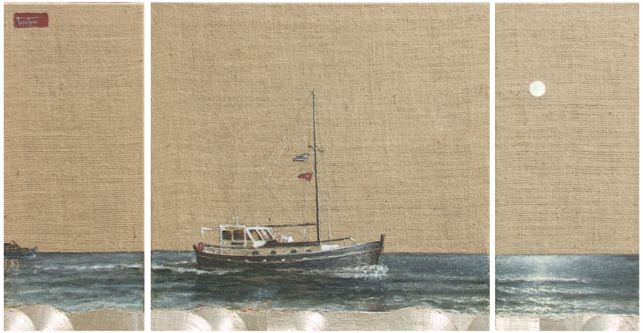 Boat Tritpych ~ SOLD