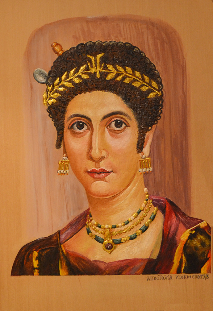 Η Αποστολία Κιοκμένογλου, κάτοικος της Ν. Μάκρης και τα έργα της