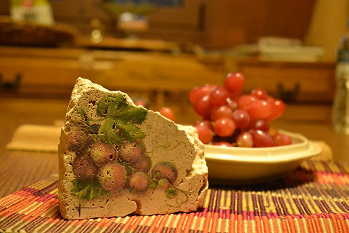 Grapes on limestone