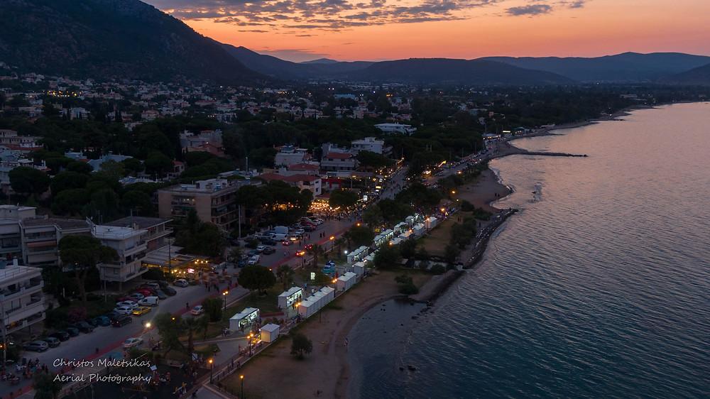 Ο πεζόδρομος της Νέας Μάκρης | Drone photographer Christos Malets