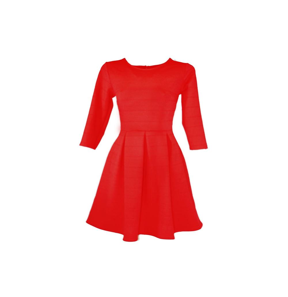 Κόκκινο φόρεμα στο γυναικείο κατάστημα Elegance, Νέα Μάκρη