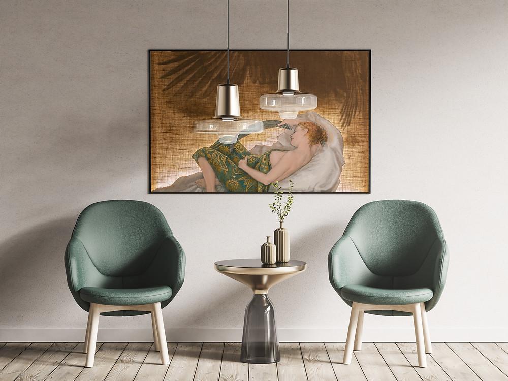 ζωγράφος Βαρβάρα Γεροδήμου / mock up Anthony Boyd