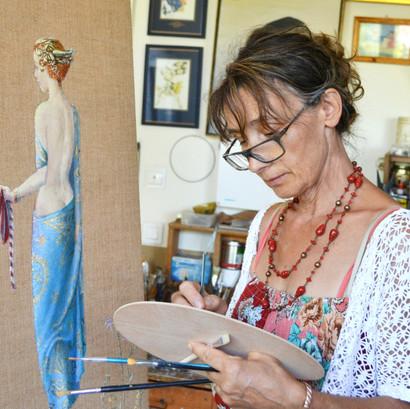 Εργαστήρι με την ζωγράφο Βαρβάρα Γεροδήμου, στον Μαραθώνα